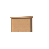 DWF Blokhut met overkapping lessenaar dak 300 x 300 + 300cm