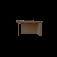 DWF Blokhut met overkapping lessenaar dak 200 x 350 +300cm