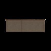DWF Blokhut met overkapping lessenaar dak 400 x 350 + 250cm