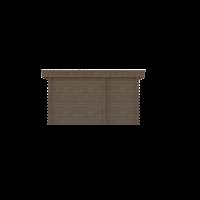 DWF Blokhut met overkapping plat dak 150 x 250 + 100 / 250 x 350cm