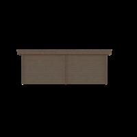 DWF Blokhut met overkapping plat dak 300 x 200 + 100 / 300 x 300cm