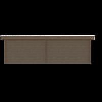 DWF Blokhut met overkapping plat dak 400 x 250 + 100 / 350 x 350cm