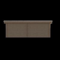 DWF Blokhut met overkapping plat dak 350 x 250 + 100 / 300 x 350cm