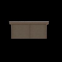 DWF Blokhut met overkapping plat dak 250 x 250 + 100 / 250 x 350cm