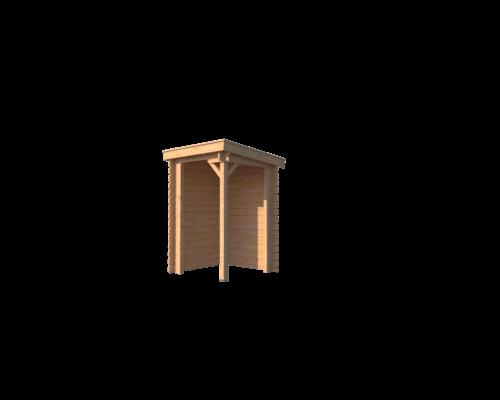 DWF Houten overkapping lessenaars dak 150 x 150cm