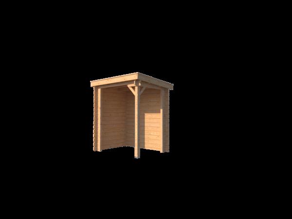 DWF Houten overkapping lessenaars dak 200 x 150cm