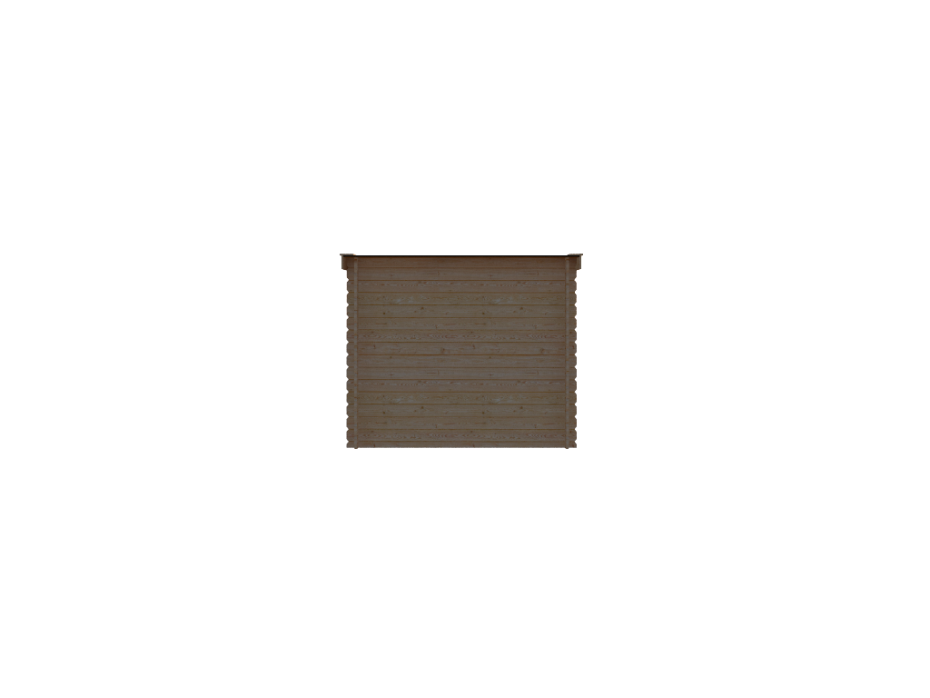 DWF Houten overkapping lessenaars dak 250 x 150cm