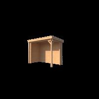 DWF Houten overkapping lessenaars dak 300 x 150cm