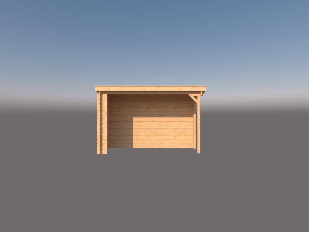 DWF Houten overkapping lessenaars dak 350 x 150cm