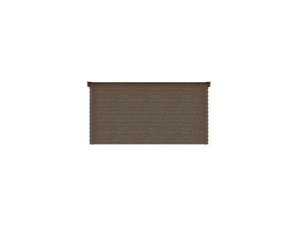 DWF Houten overkapping lessenaars dak 400 x 150cm