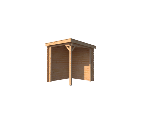 DWF Houten overkapping lessenaars dak 200 x 200cm