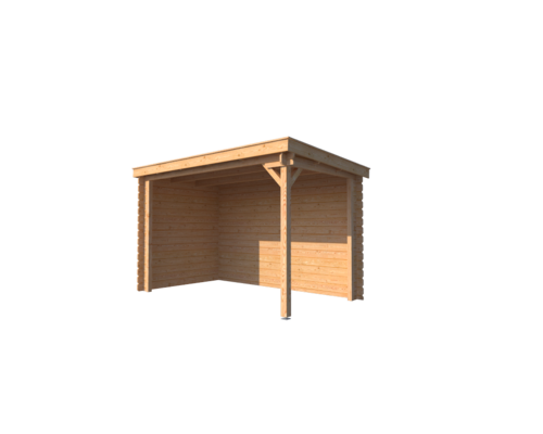 DWF Houten overkapping lessenaars dak 350 x 200cm