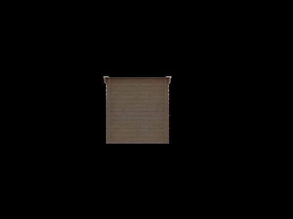 DWF Houten overkapping lessenaars dak 200 x 250cm