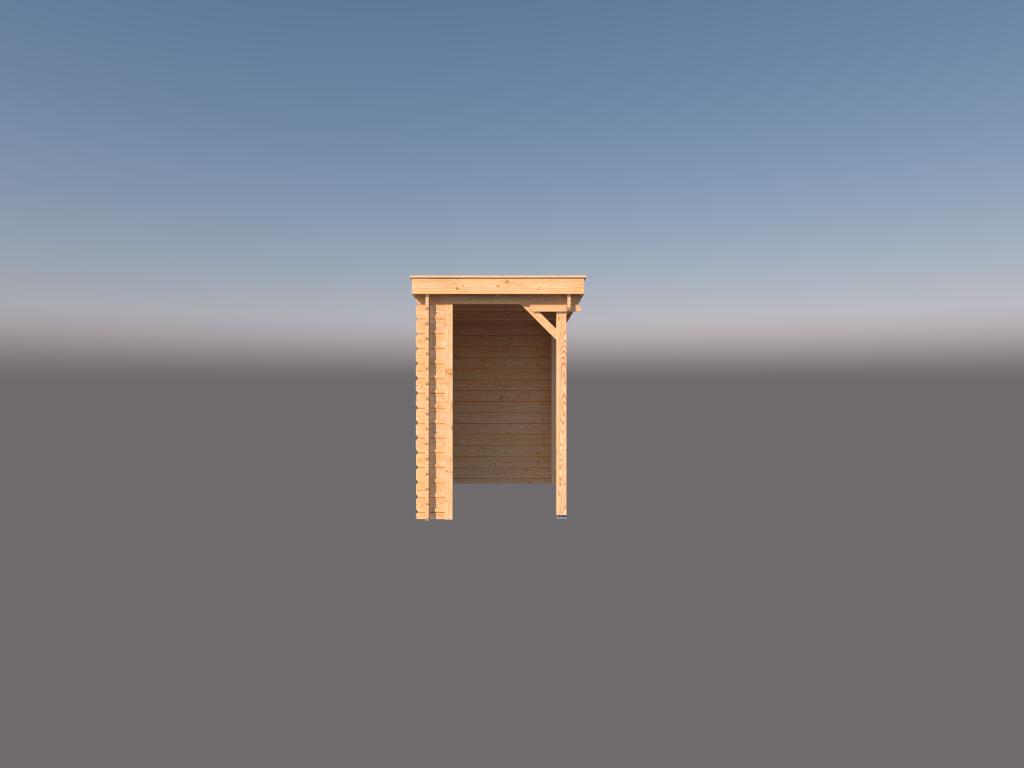 DWF Houten overkapping lessenaars dak 150 x 250cm