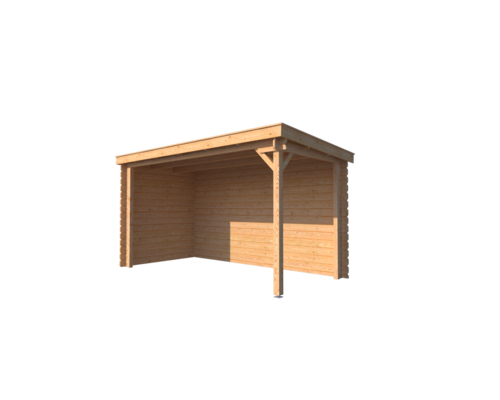 DWF Houten overkapping lessenaars dak 400 x 250cm