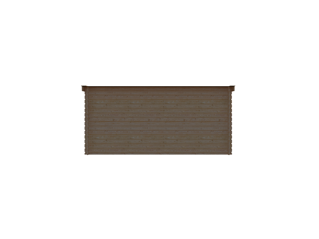 DWF Houten overkapping lessenaars dak 450 x 250cm