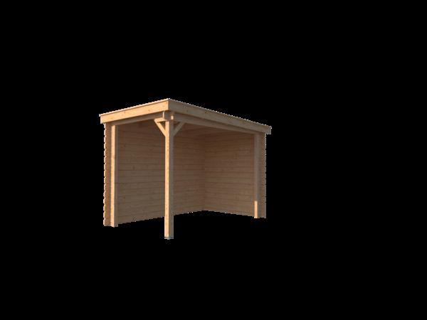 DWF Houten overkapping lessenaars dak 200 x 300cm