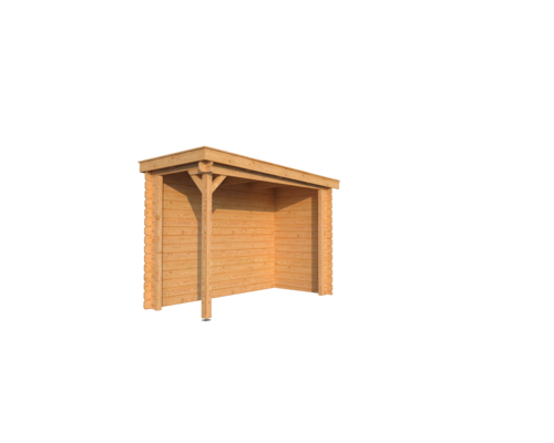 DWF Houten overkapping lessenaars dak 150 x 300cm