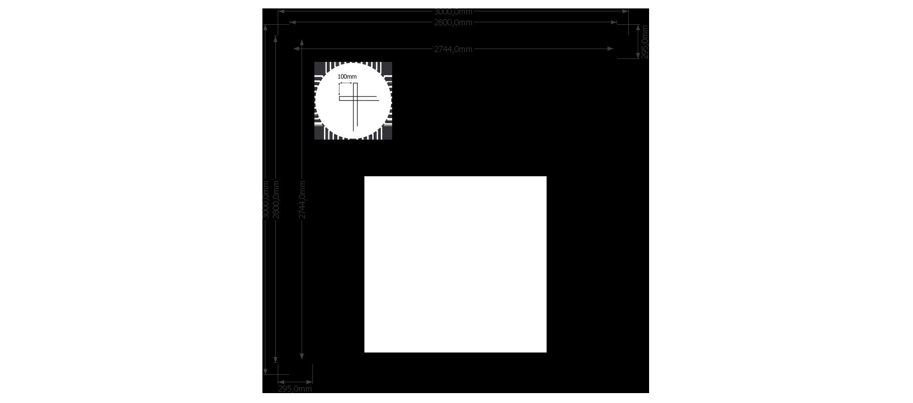 DWF Houten overkapping lessenaars dak 300 x 300cm