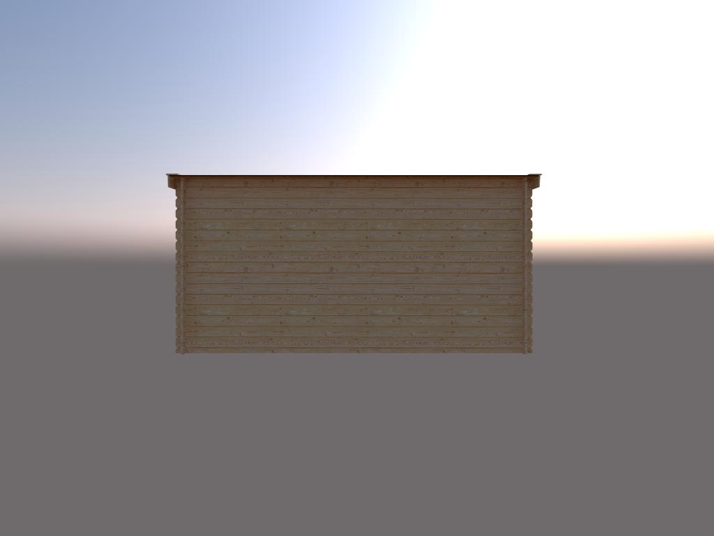 DWF Houten overkapping lessenaars dak 450 x 300cm