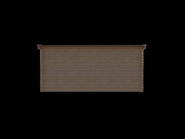 DWF Houten overkapping lessenaars dak 500 x 300cm