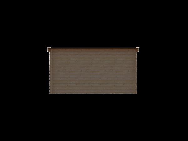 DWF Houten overkapping lessenaars dak 400 x 350cm
