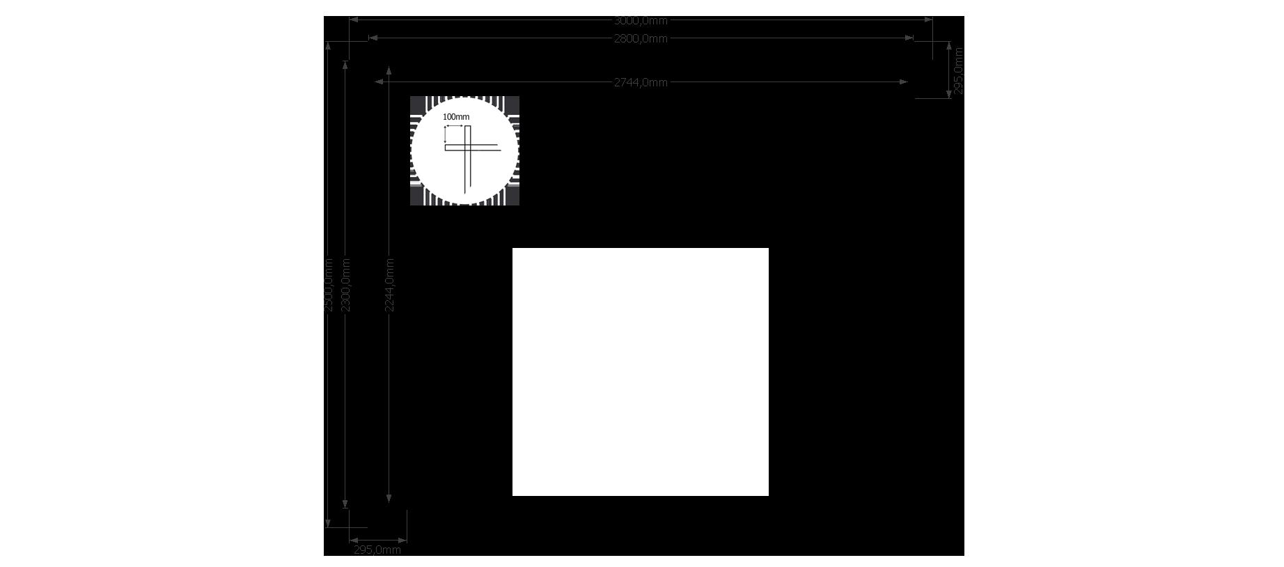 DWF Houten overkapping zadeldak 300 x 250cm