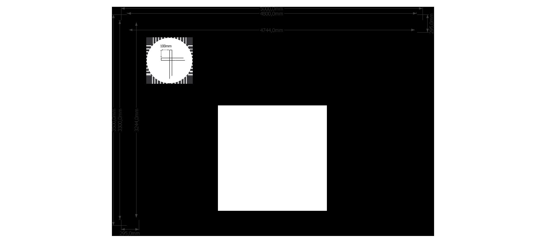 DWF Houten overkapping plat dak 500 x 350cm