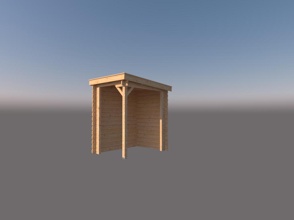 DWF Houten overkapping lessenaars dak 150 x 200cm