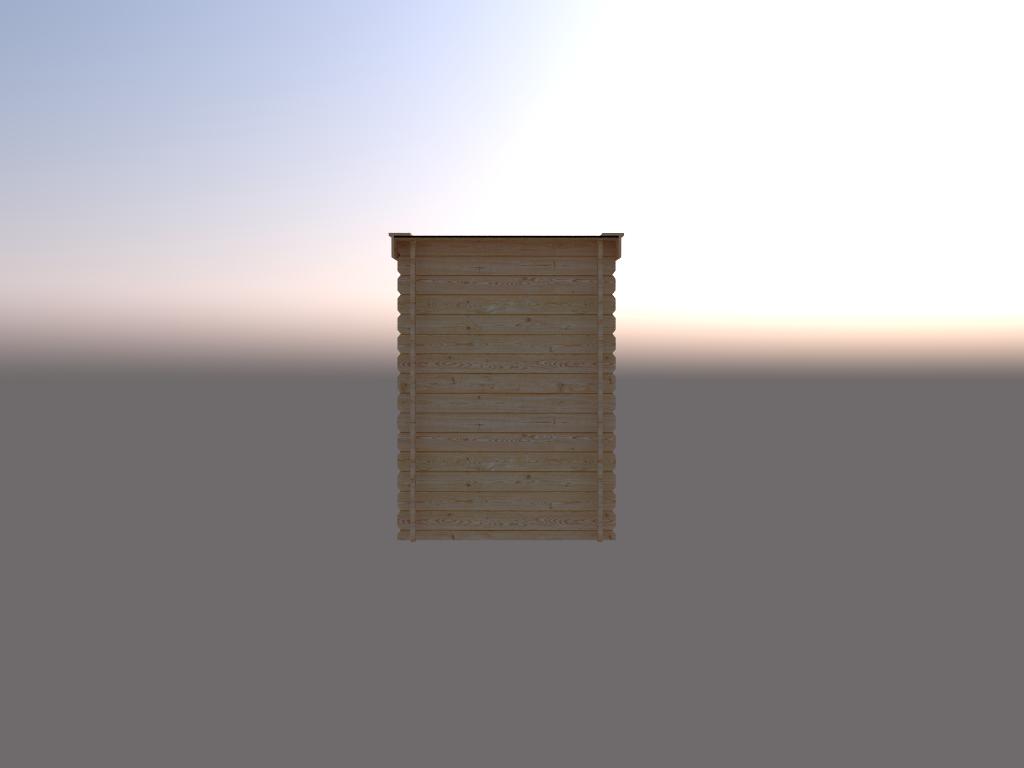 DWF Blokhut lessenaar dak 150 x 200cm