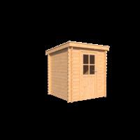 DWF Blokhut lessenaar dak 200 x 200cm