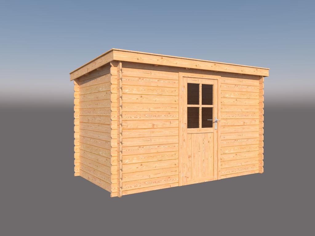 DWF Blokhut lessenaar dak 350 x 200cm