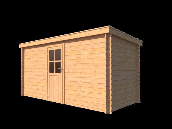 DWF Blokhut lessenaar dak 450 x 200cm