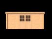 DWF Blokhut lessenaar dak 500 x 200cm