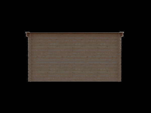 DWF Blokhut lessenaar dak 400 x 300cm