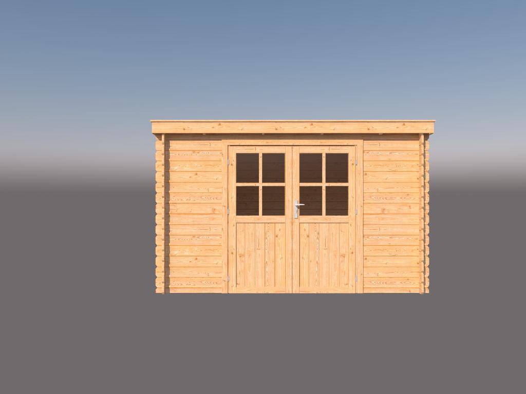 DWF Blokhut lessenaar dak 350 x 250cm
