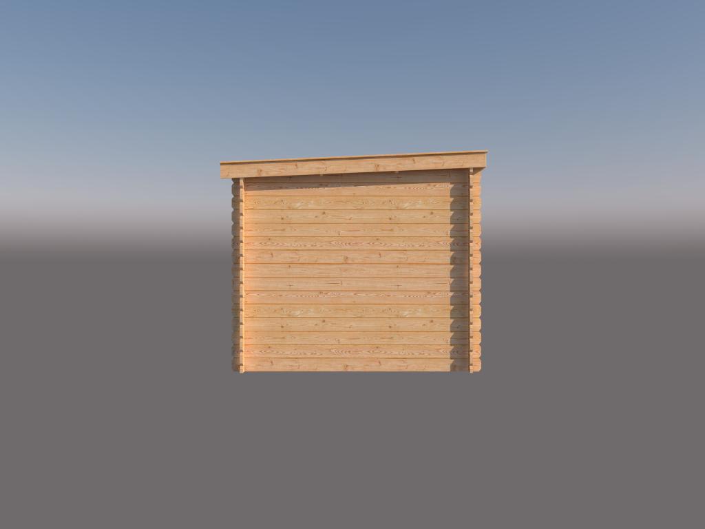 DWF Blokhut lessenaar dak 300 x 250cm