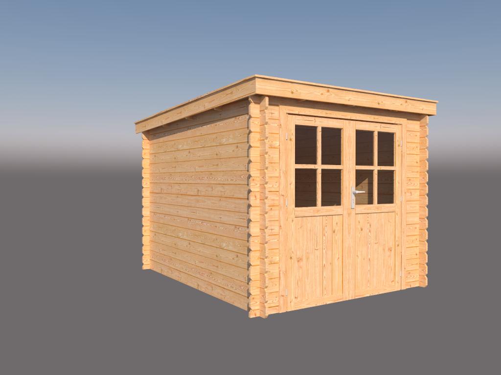DWF Blokhut lessenaar dak 250 x 300cm