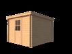 DWF Blokhut lessenaar dak 300 x 300cm