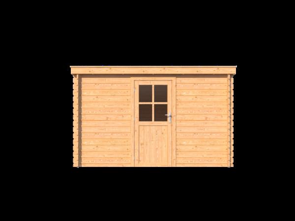 DWF Blokhut lessenaar dak 350 x 300cm