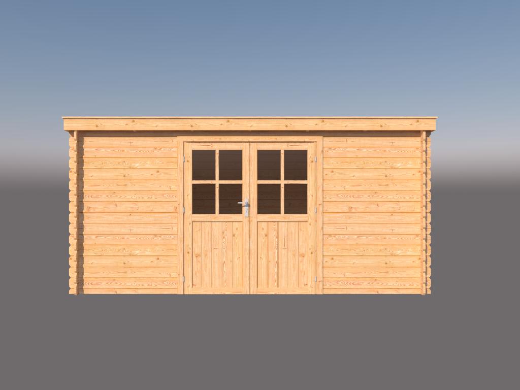 DWF Blokhut lessenaar dak 450 x 300cm