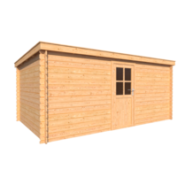 DWF Blokhut lessenaar dak 500 x 300cm