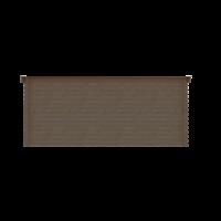 DWF Blokhut lessenaar dak 500 x 250cm