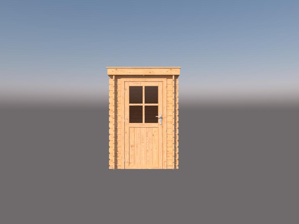 DWF Blokhut lessenaar dak 150 x 350cm