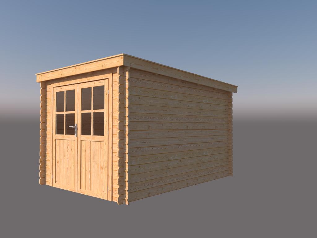 DWF Blokhut lessenaar dak 250 x 350cm