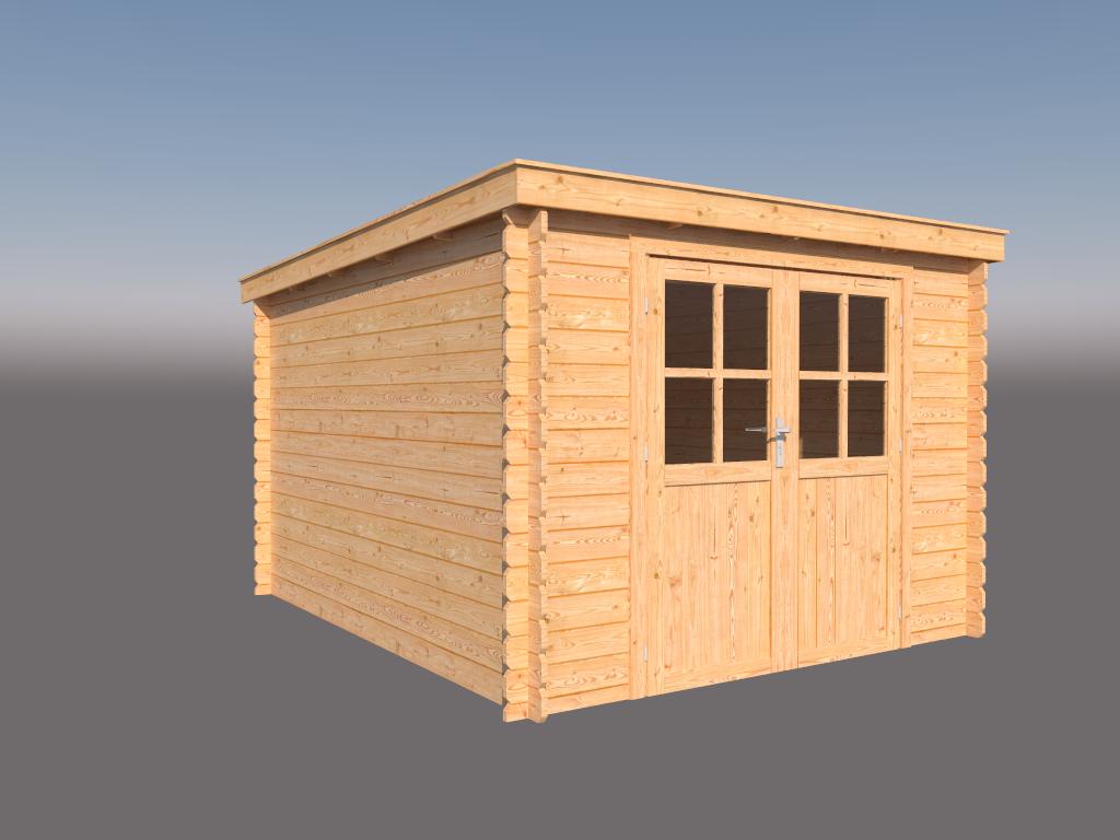 DWF Blokhut lessenaar dak 300 x 350cm