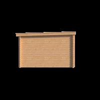 DWF Blokhut lessenaar dak 350 x 350cm