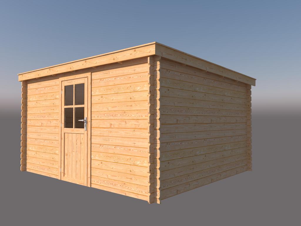 DWF Blokhut lessenaar dak 400 x 350cm
