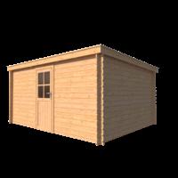 DWF Blokhut lessenaar dak 450 x 350cm
