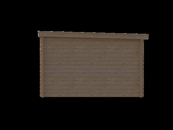 DWF Blokhut lessenaar dak 500 x 350cm